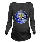 Peace on Earth Long Sleeve Maternity T-Shirt