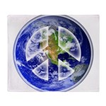 Peace on Earth Throw Blanket