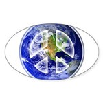 Peace on Earth Sticker (Oval)