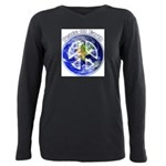 Peace on Earth II Plus Size Long Sleeve Tee