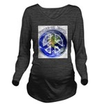 Peace on Earth II Long Sleeve Maternity T-Shirt