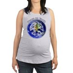 Peace on Earth II Maternity Tank Top
