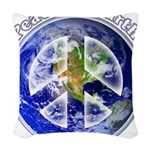 Peace on Earth II Woven Throw Pillow