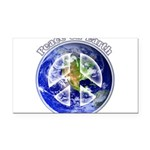 Peace on Earth II Rectangle Car Magnet
