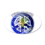 Peace on Earth II Oval Car Magnet