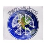 Peace on Earth II Throw Blanket