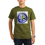 Peace on Earth II Organic Men's T-Shirt (dark)