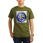 Peace on Earth II Organic Men's T-Shirt (dark)