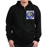 Peace on Earth II Zip Hoodie (dark)