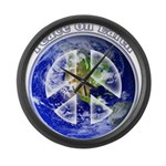 Peace on Earth II Large Wall Clock