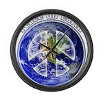 Peace on Earth II Large Wall Clock