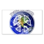 Peace on Earth II Sticker (Rectangle 10 pk)