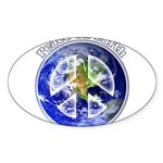 Peace on Earth II Sticker (Oval 10 pk)