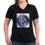 Peace on Earth II Women's V-Neck Dark T-Shirt