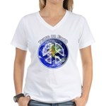 Peace on Earth II Women's V-Neck T-Shirt
