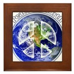 Peace on Earth II Framed Tile