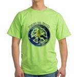 Peace on Earth II Green T-Shirt