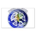 Peace on Earth II Sticker (Rectangle)