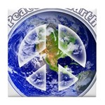 Peace on Earth II Tile Coaster