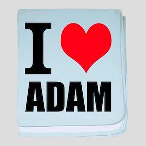 I Heart Adam baby blanket