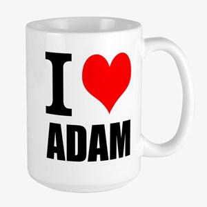 I Heart Adam Large Mug
