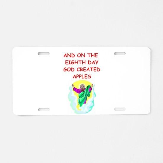 apples Aluminum License Plate