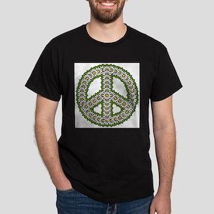 Daisy Peace Symbol Dark T-Shirt