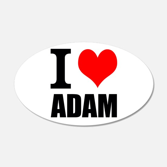 I Heart Adam 22x14 Oval Wall Peel
