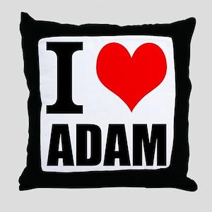 I Heart Adam Throw Pillow