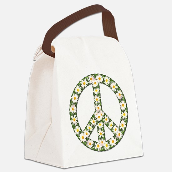 peace daisies Canvas Lunch Bag