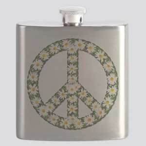 peace daisies Flask