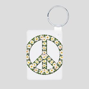peace daisies Aluminum Photo Keychain