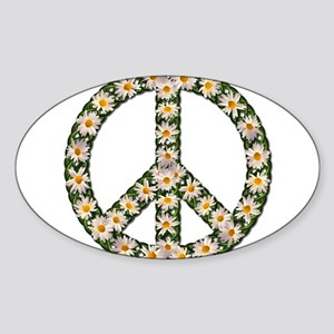 peace daisies Sticker (Oval)