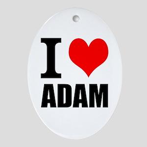 I Heart Adam Ornament (Oval)
