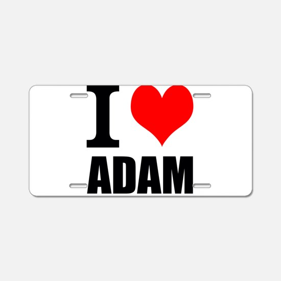 I Heart Adam Aluminum License Plate
