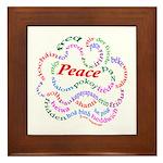 Fred-is-Peace Framed Tile
