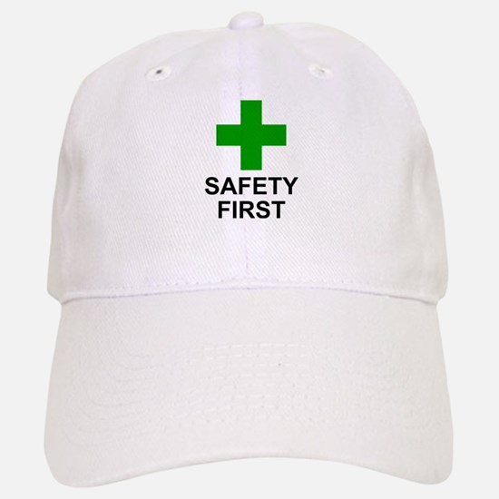 SAFETY FIRST - Baseball Baseball Cap