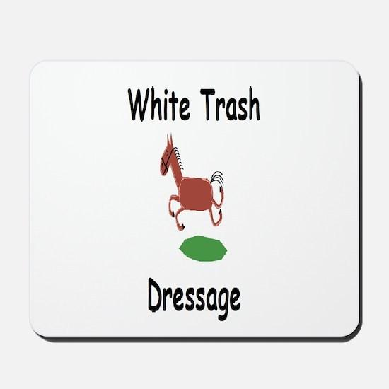 White Trash Dressage (WTD) Logo Mousepad