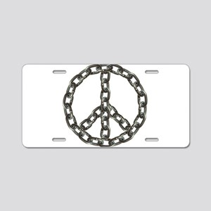 peace chain Aluminum License Plate