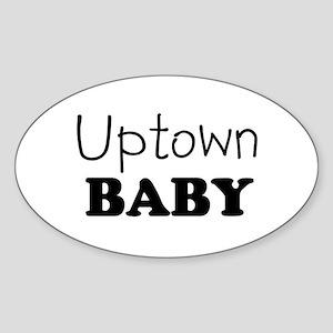 Uptown baby Oval Sticker