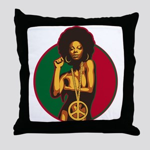 Power to the People Throw Pillow