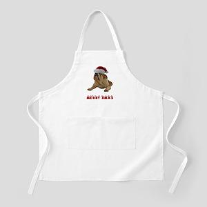 Bulldog Christmas Apron