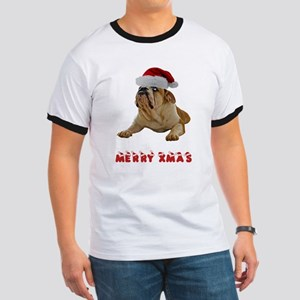 Bulldog Christmas Ringer T
