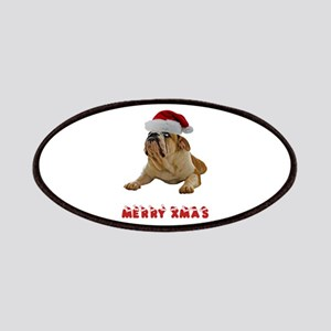 Bulldog Christmas Patches