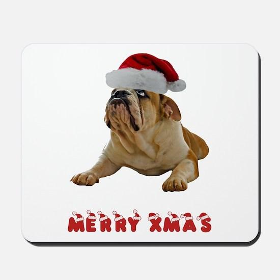 Bulldog Christmas Mousepad