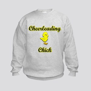 Cheerleading Chick Kids Sweatshirt