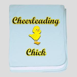 Cheerleading Chick baby blanket
