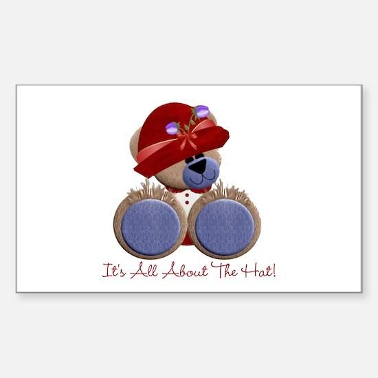 RedHat TeddyBear Sticker (Rectangle)