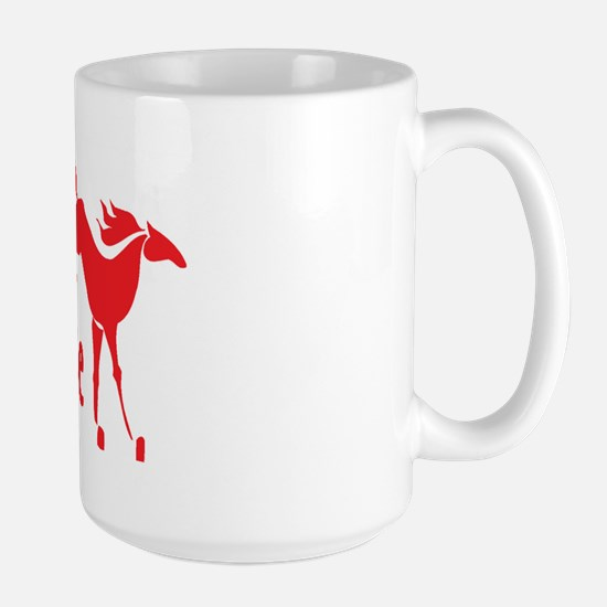 horse girls rule Large Mug