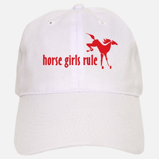 horse girls rule Baseball Baseball Cap